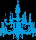Icon Kronleuchter blau